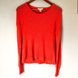 Banana Republic Orange Fall Light Sweater Sz M